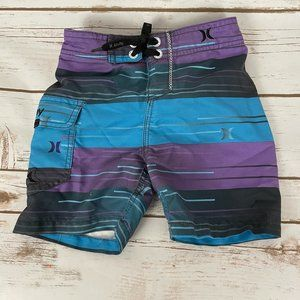 Boys Hurley Swim Trunks Bathing Suit Size 18M